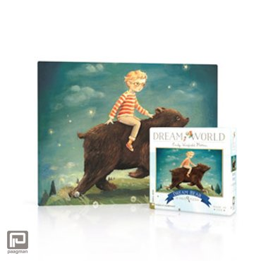 New York Puzzle Company puzzel - Dream World Dream Bear 20 mini stukjes