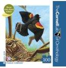 New York Puzzle Company puzzel - Cornell Lab Red-Winged Blackbird 100 mini stukjes