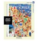 New York Puzzle Company puzzel - New Yorker Beachgoing 1000 stukjes