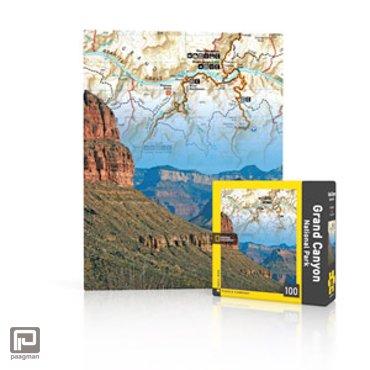 New York Puzzle Company mini puzzel - National Geographic Grand Canyon 100 stukjes