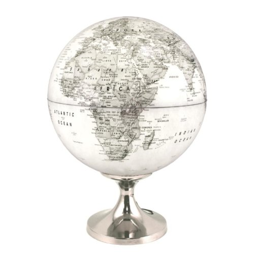 Afbeelding van Globe 28 Cm Pol Grijs Verlicht