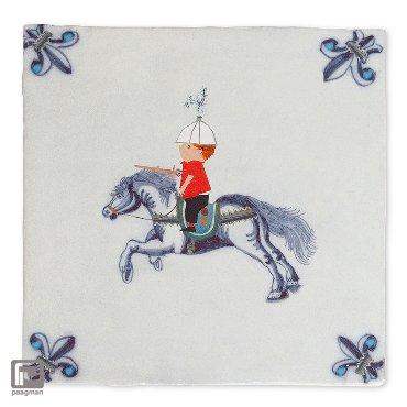 Storytiles ridder te paard Siertegel – Small