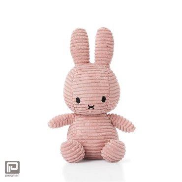 Nijntje corduroy knuffel, formaat 24 cm., roze