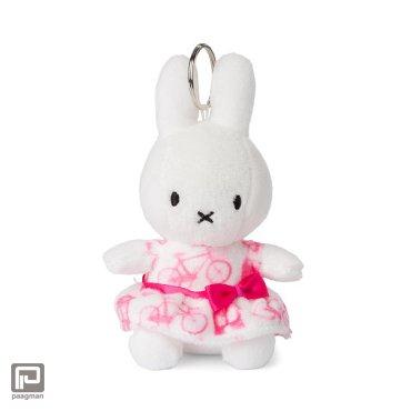 Nijntje roze jurk sleutelhanger, formaat 10 cm., wit