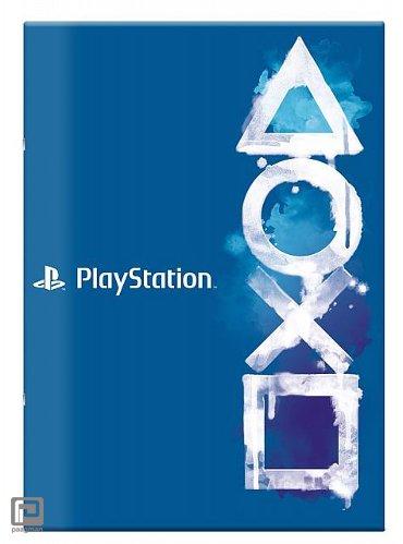 Playstation schrift A4 gelinieerd