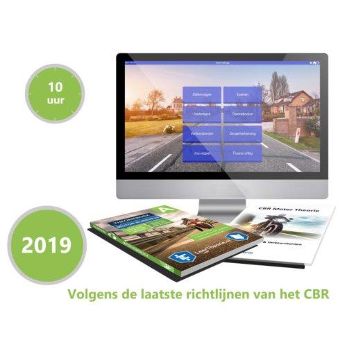 Afbeelding van Motor Theorieboek Rijbewijs B 2019 Met 10 Uur Online Examentraining En Samenvatting