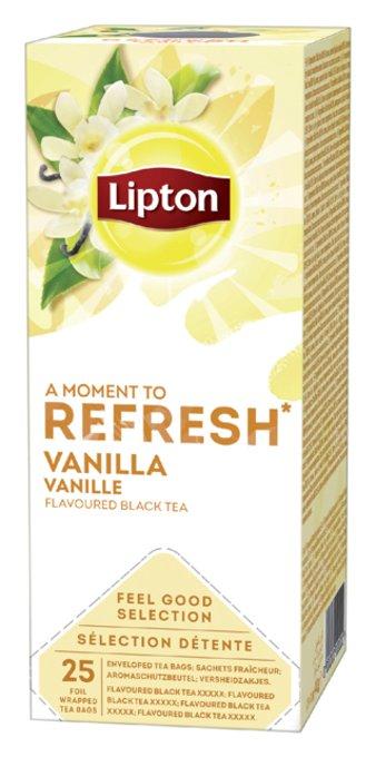Thee Lipton Refresh Vanille 25stuks