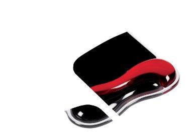 Muismat met polssteun Kensington Duo rood/zwart