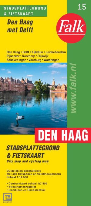 Falk stadsplattegrond & fietskaart Den Haag - Falkplan plattegrond