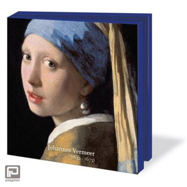 Johannes Vermeer kaartenset met 10 dubbele kaarten