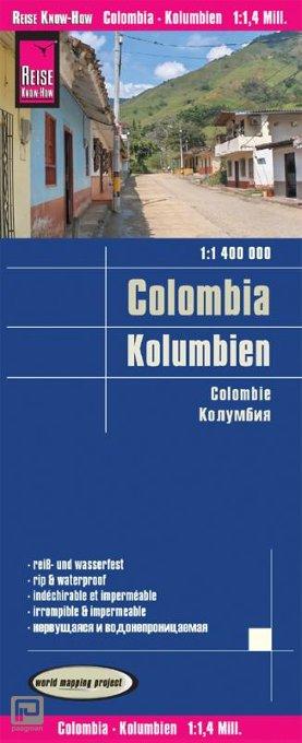 Reise Know-How Landkarte Kolumbien 1 : 1 400 000