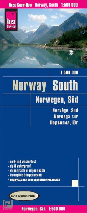 Reise Know-How Landkarte Norwegen Süd 1 : 500.000