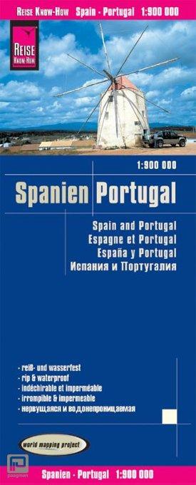Reise Know-How Landkarte Spanien, Portugal 1:900.000