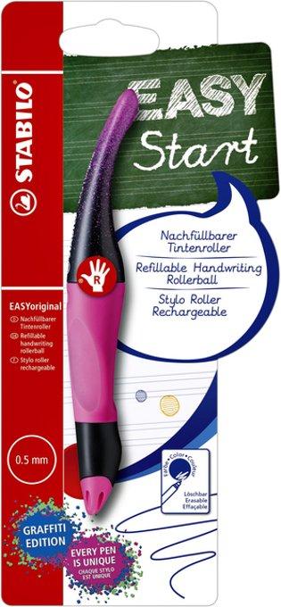 Rollerpen STABILO Easyoriginal rechtshandig magenta graffiti edition blister