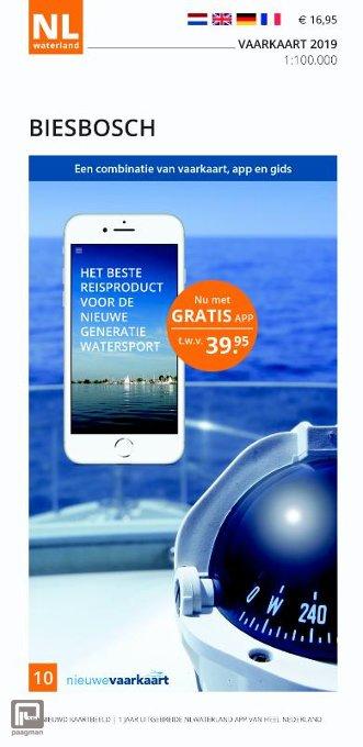 Vaarkaart Biesbosch 2019 - NL Waterland