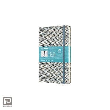 Moleskine notitieboekje Blend Collection, hardcover, formaat 13 x 21 cm. large, gelinieerd, kleur blauw