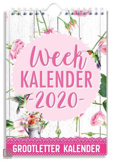 WEEKKALENDER 2020 GROOTLETTER BLOEMEN - FSC MIX CREDIT