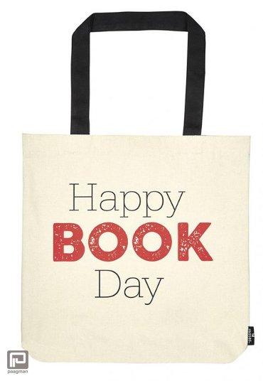 Libri_x boekentas katoen, formaat 39 x 42 cm., happy book day