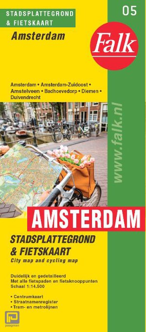 Falk stadsplattegrond & fietskaart Amsterdam