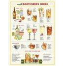 Cavallini & Co vintage poster - Bartender's Guide