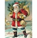 Cavallini & Co kerst poster vintage - Vintage Santa