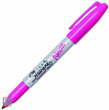 Viltstift Sharpie Fine rond neon roze 1-2mm