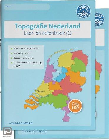 Topografie Nederland Leer- en oefenboeken Set (1 en 2) - Delen 1 en 2