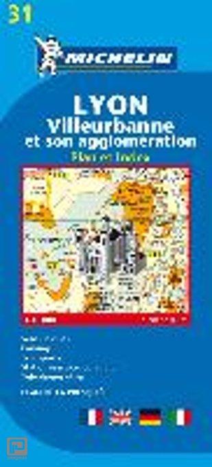 Lyon - Michelin Stadsplattegrond
