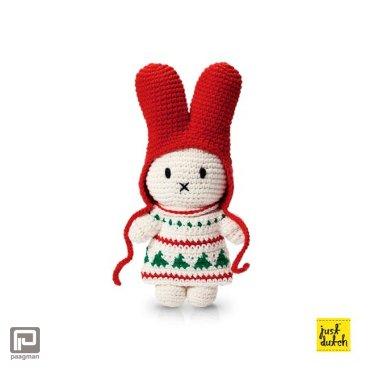 Just-Dutch Nijntje handmade en haar kerstjurk + rode muts