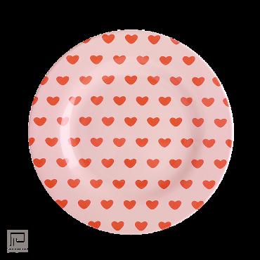Rice melamine bord sweet hearts