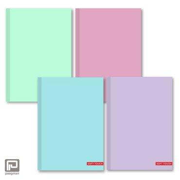 Dummy notitie, teken- schetsboek, formaat A4, harde kaft, kleur pastel assorti