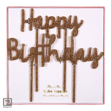 Meri Meri taart topper - happy birthday
