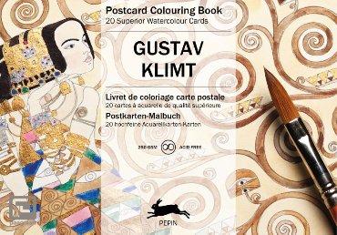 Gustav Klimt - Postcard coloring book