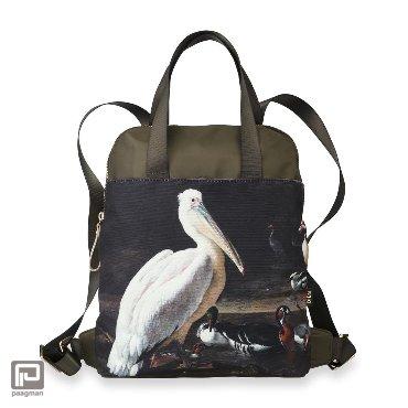Bien Moves, Groovy Green Collection rugtas, Pelican & Birds