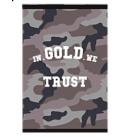 In Gold We Trust schrift A4 gelinieerd