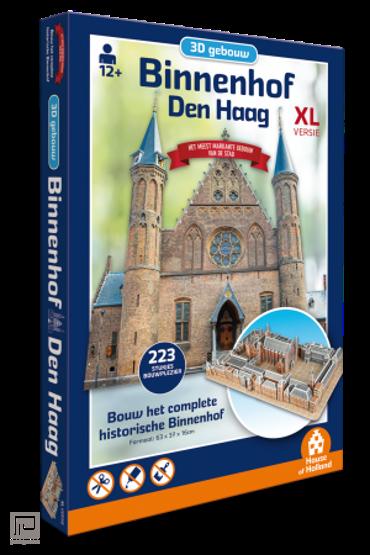 Puzzel 3D Gebouw - Binnenhof Den Haag (223 stukjes)