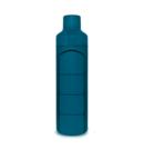 YOS Bottle Daily Bold Blue - waterfles met pillendoos
