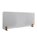 Legamaster whiteboard bureauscherm Elements, formaat 60 x 160 cm., kleur wit met houders