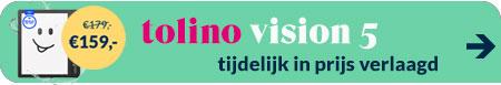 tolino vision 5HD tijdelijk in prijs verlaagd